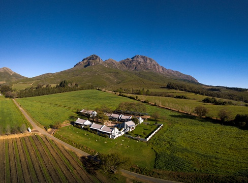 Views of Mont Angelis Retreat at the foot of the Helderberg Stellenbosch, Upper Blaauwklippen Valley
