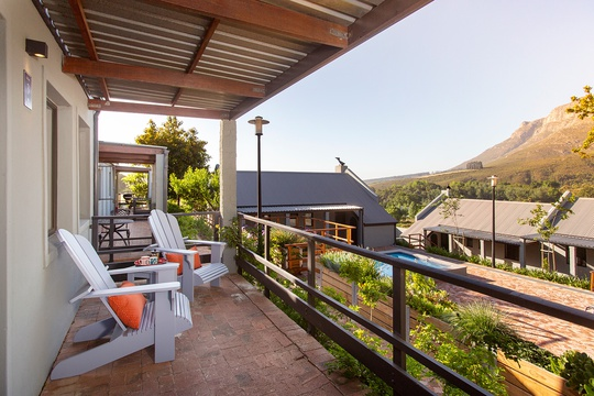View from Cottage Lailah, Mont Angelis, Stellenbosch, Self-catering