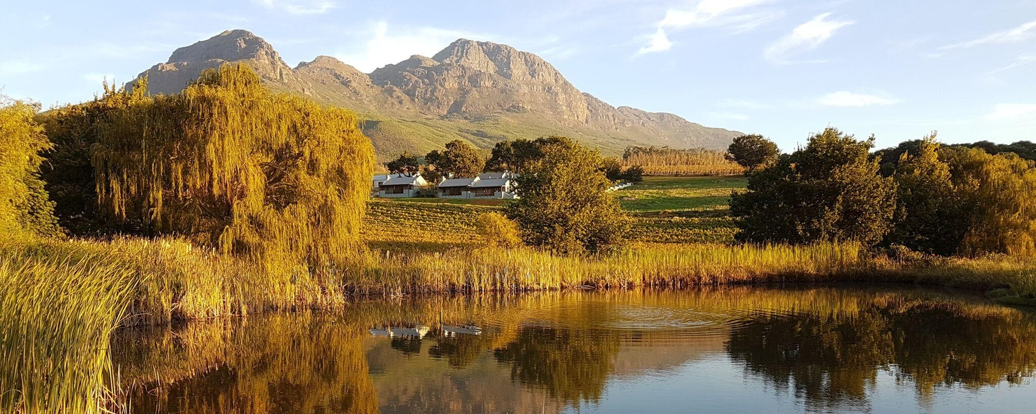 Mont Angelis cottages at the foot of Helderberg Mountains Stellenbosch luxury self catering accommodation