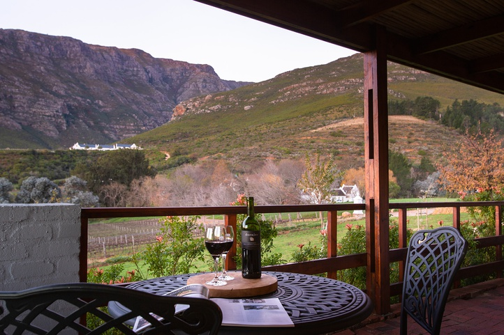 The best place to enjoy a bottle of wine is Mont Angelis in Stellenbosch